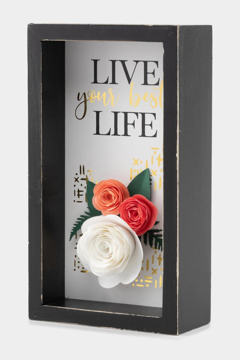 Live Your Best Life Box Sign- Black 3
