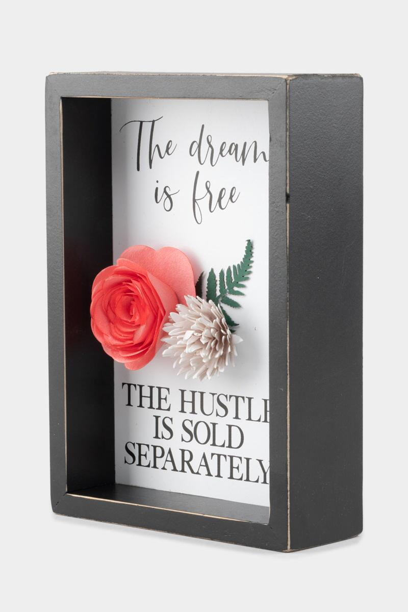 The Dream Is Free Box Sign- Black 3