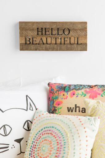 Hello Beautiful Wood Wall Decor