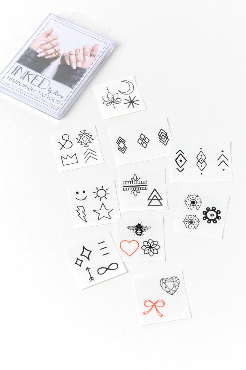 INKED by dani Finger Tattoo Pack- White 2