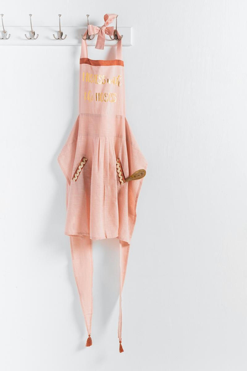 Hostess with the Mostess Apron Set-  pink-cl2