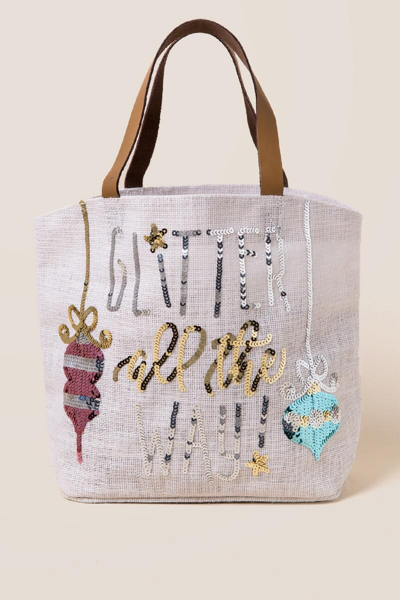 Kids' Sequin Glitter All the Way Tote