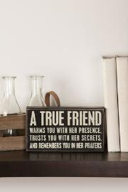 A True Friend Mini Plaque