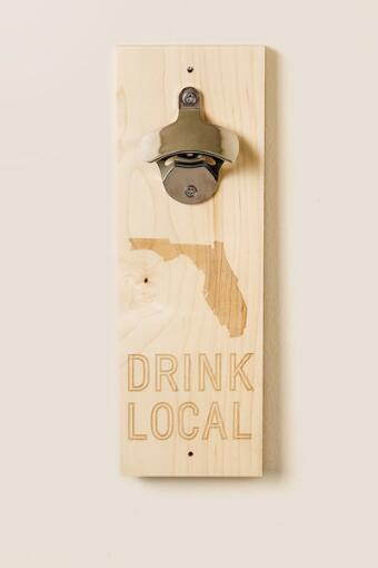 Florida Wood Bottle Opener