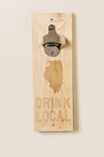 Illinois Wood Bottle Opener
