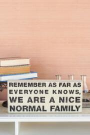 Normal Family 16x6 Plaque