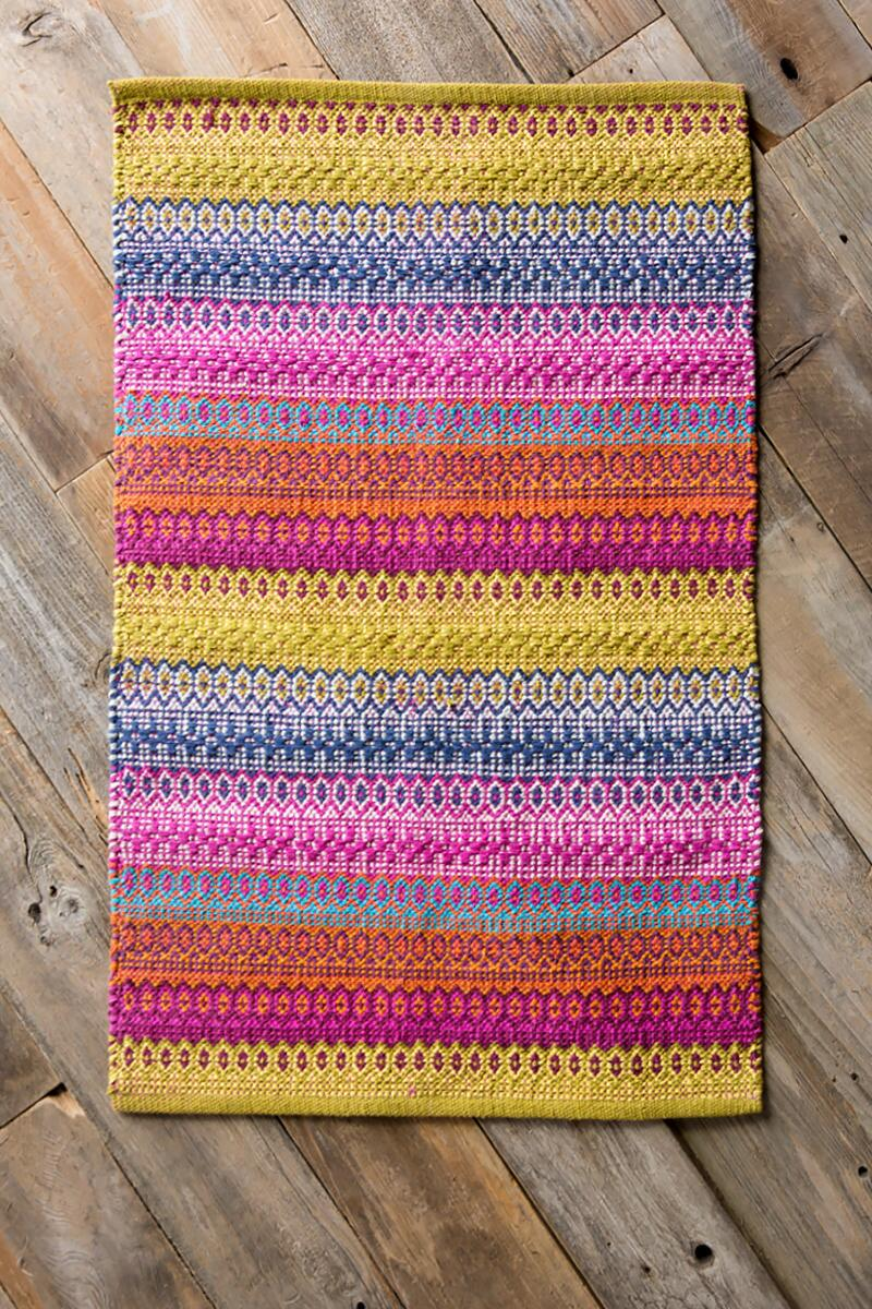 Multi Hand Woven Accent Rug-  gift-cl