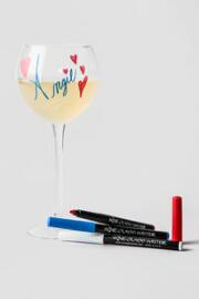 Red, White and Blue Wine Glass Writer