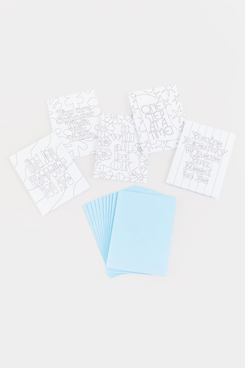 ban.do Color In Notecard Set- Blue 2