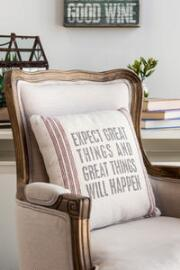 Expect Great Things Decor Pillow