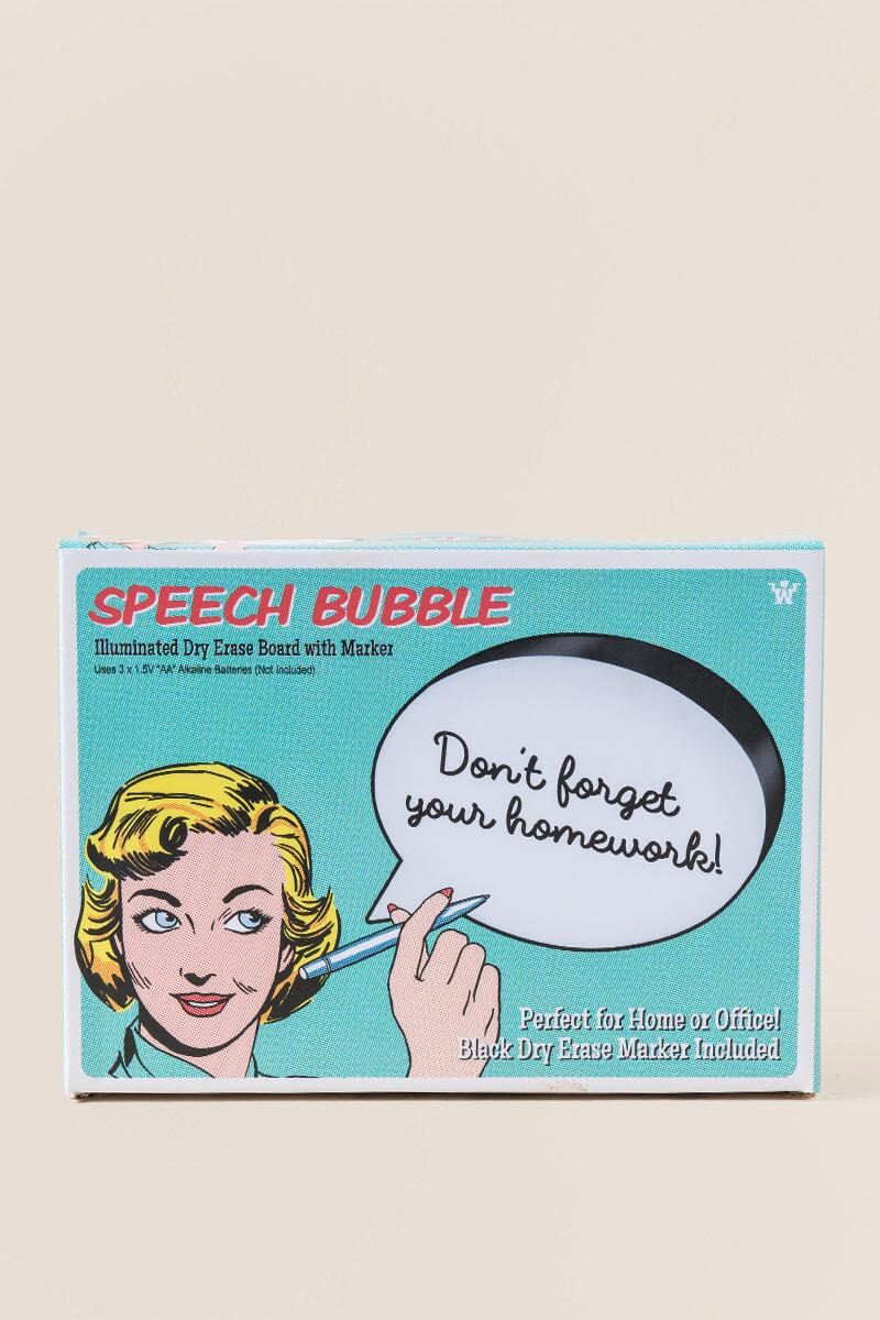 Dry Erase Speech Bubble-  gift-cl