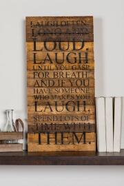 Laugh Often Large Wall Art