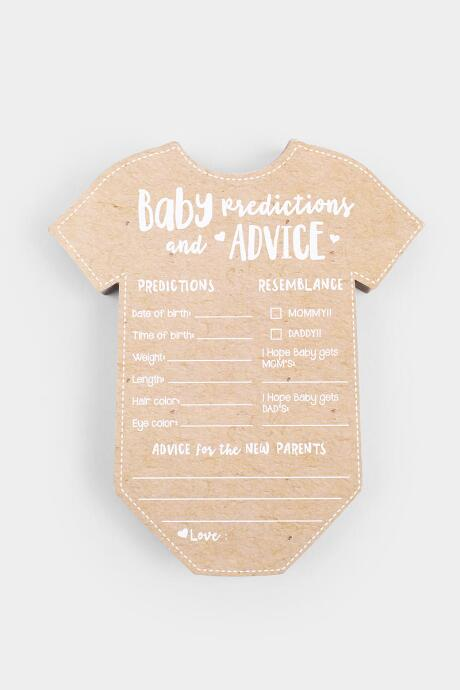 Baby Predictions Advice Cards - White