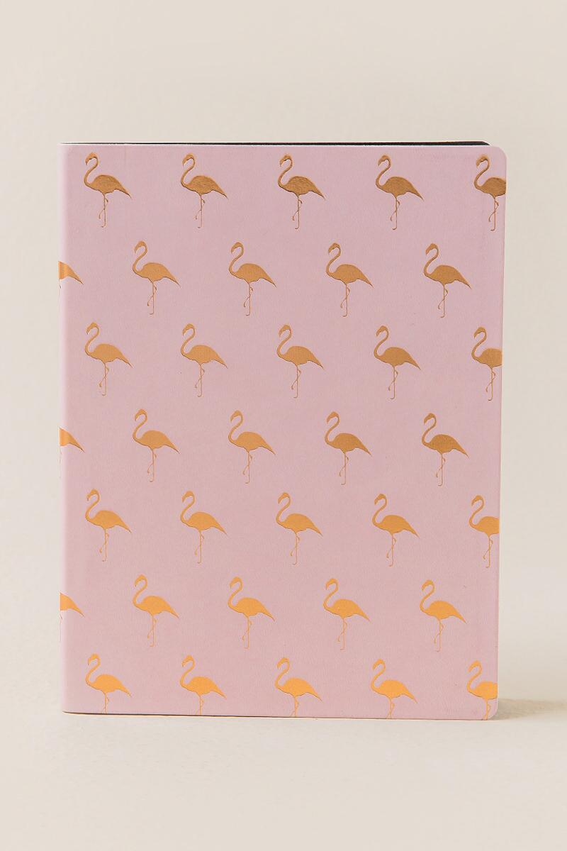 Soft Touch Pink Flamingo Journal-  gift-cl
