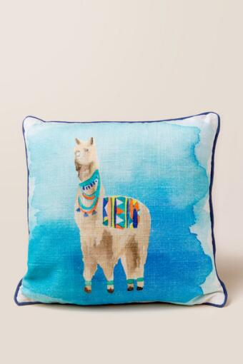 Llama Watercolor Pillow