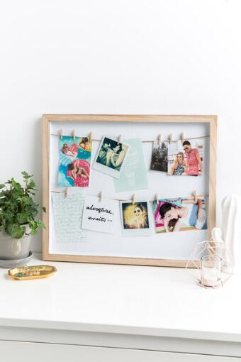 Natural Clothesline Photo Display