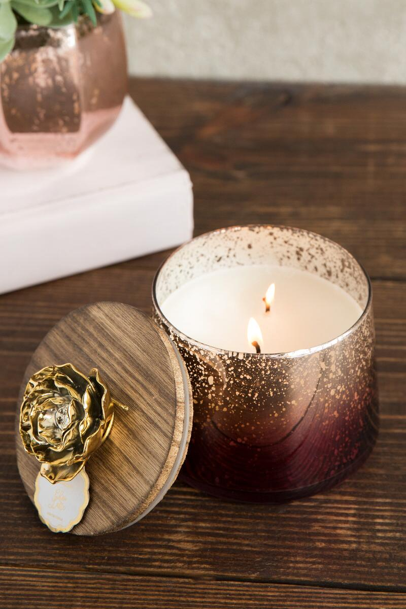 Chai Latte Burgundy Ombre Candle Jar-  gift-cl