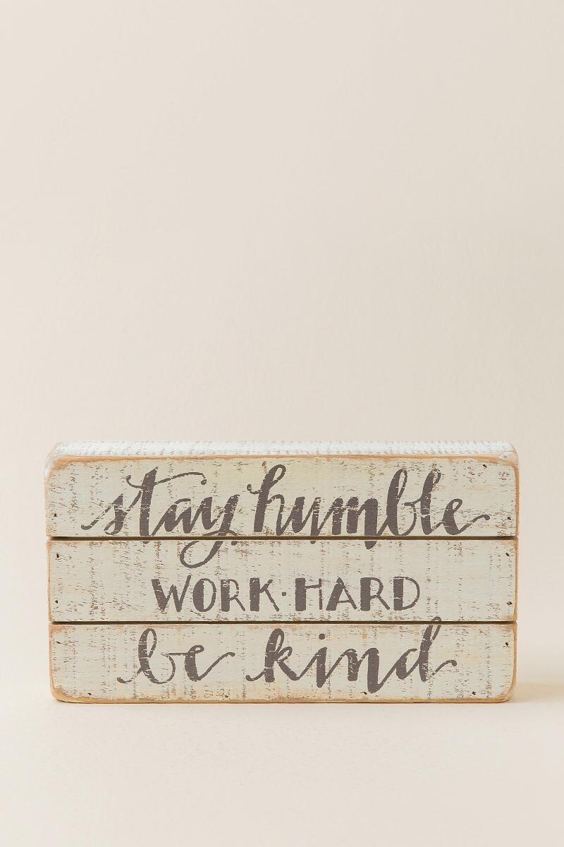 Humble And Kind Wood Wall Decor-  gift-cl