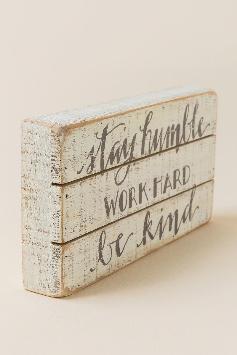 Humble And Kind Wood Wall Decor-  gift-clalternate