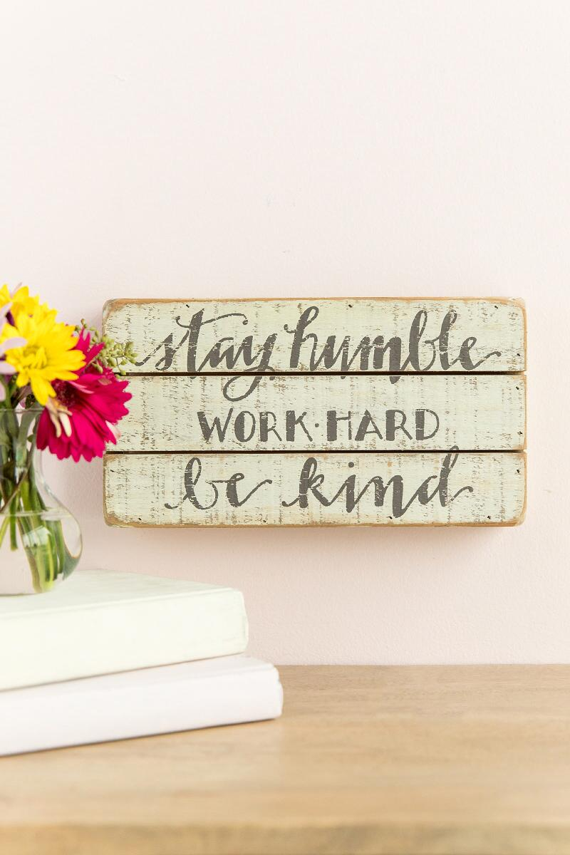 Humble And Kind Wood Wall Decor-  gift-cllifestyle