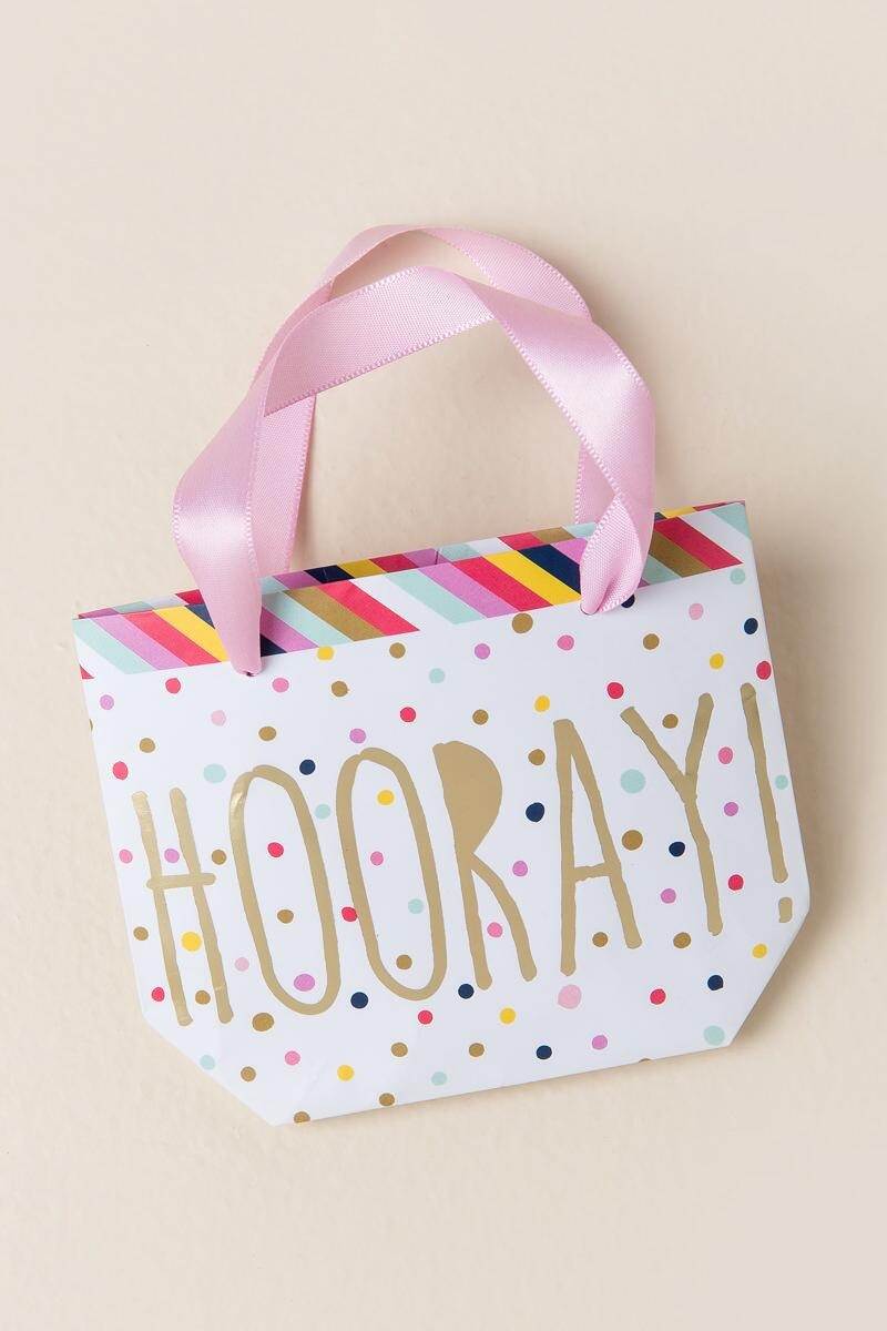 Hooray Trinket Tote Gift Bag