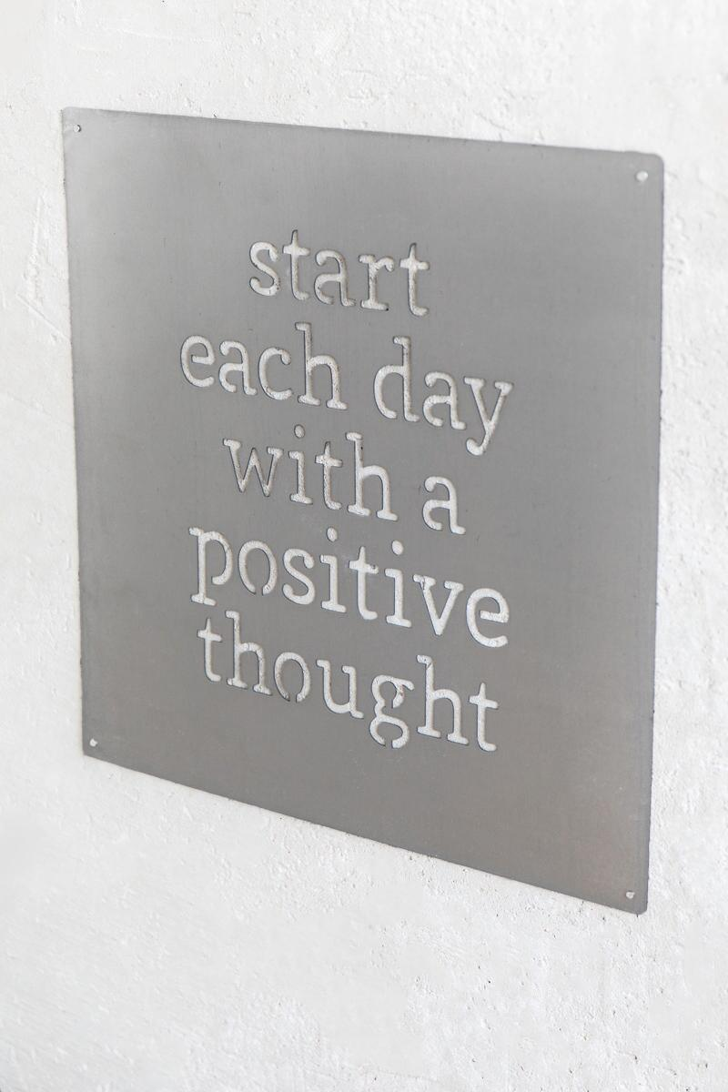 Positive Thoughts Metal Sign-  gift-clalternate