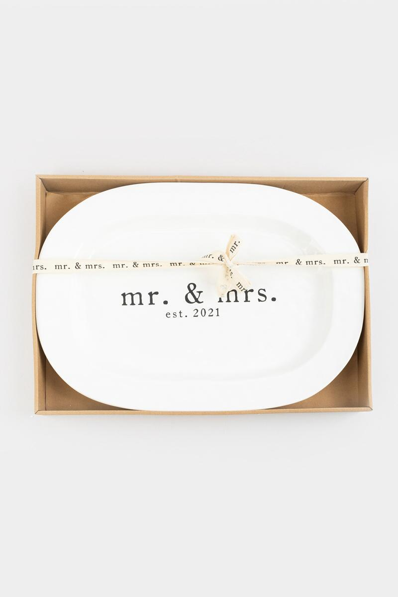 mud pie® Mr & Mrs Platter-  nocolor-cl