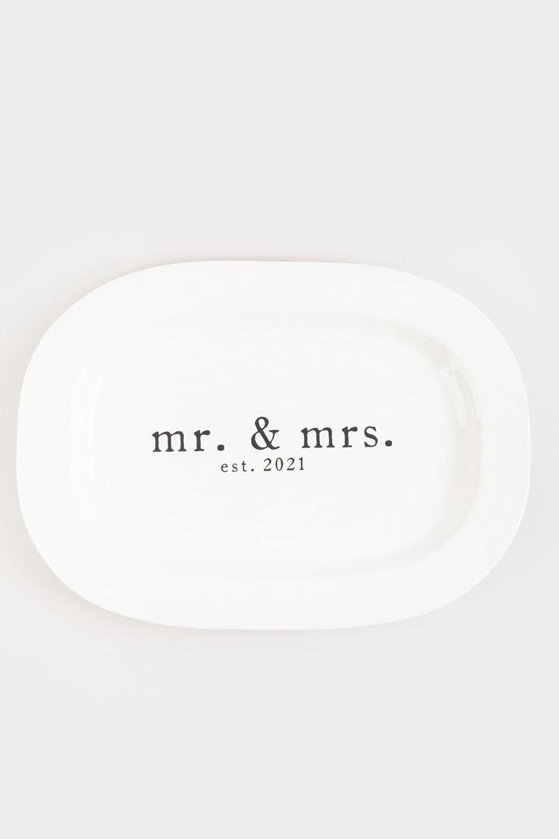 mud pie® Mr & Mrs Platter-  nocolor-cl2