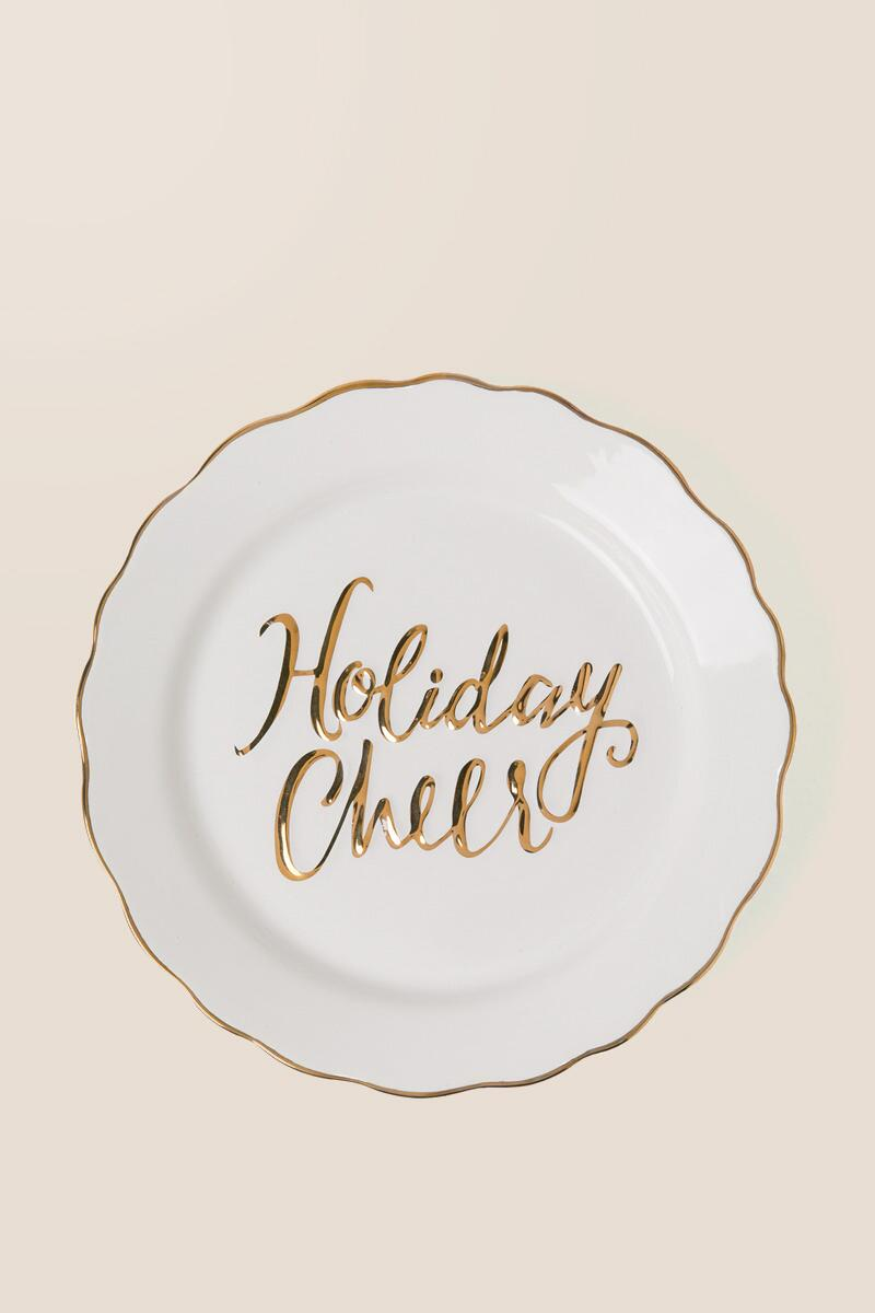 Holiday Cheer Plate-  gift-clalternate
