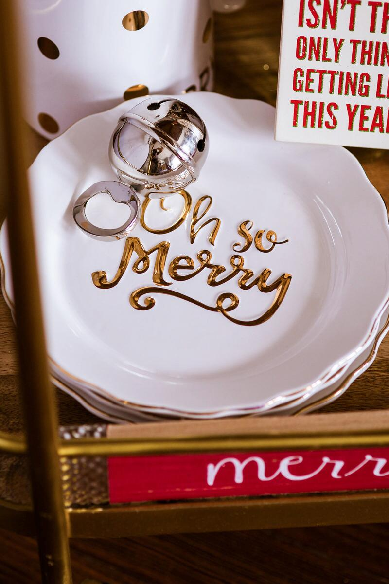Oh So Merry Dessert Plate-  gift-cl