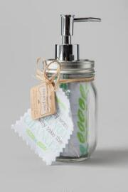 Mason Jar Soap Dispenser with Housework Hand Towel