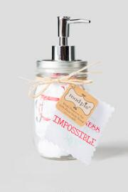 Mason Jar Soap Dispenser with Love You Hand Towel