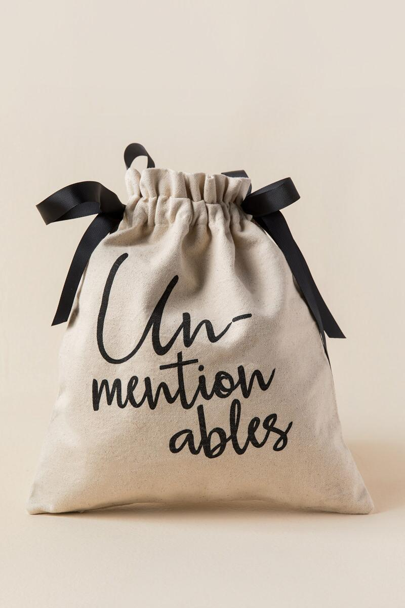 Unmentionables Canvas Travel Bag