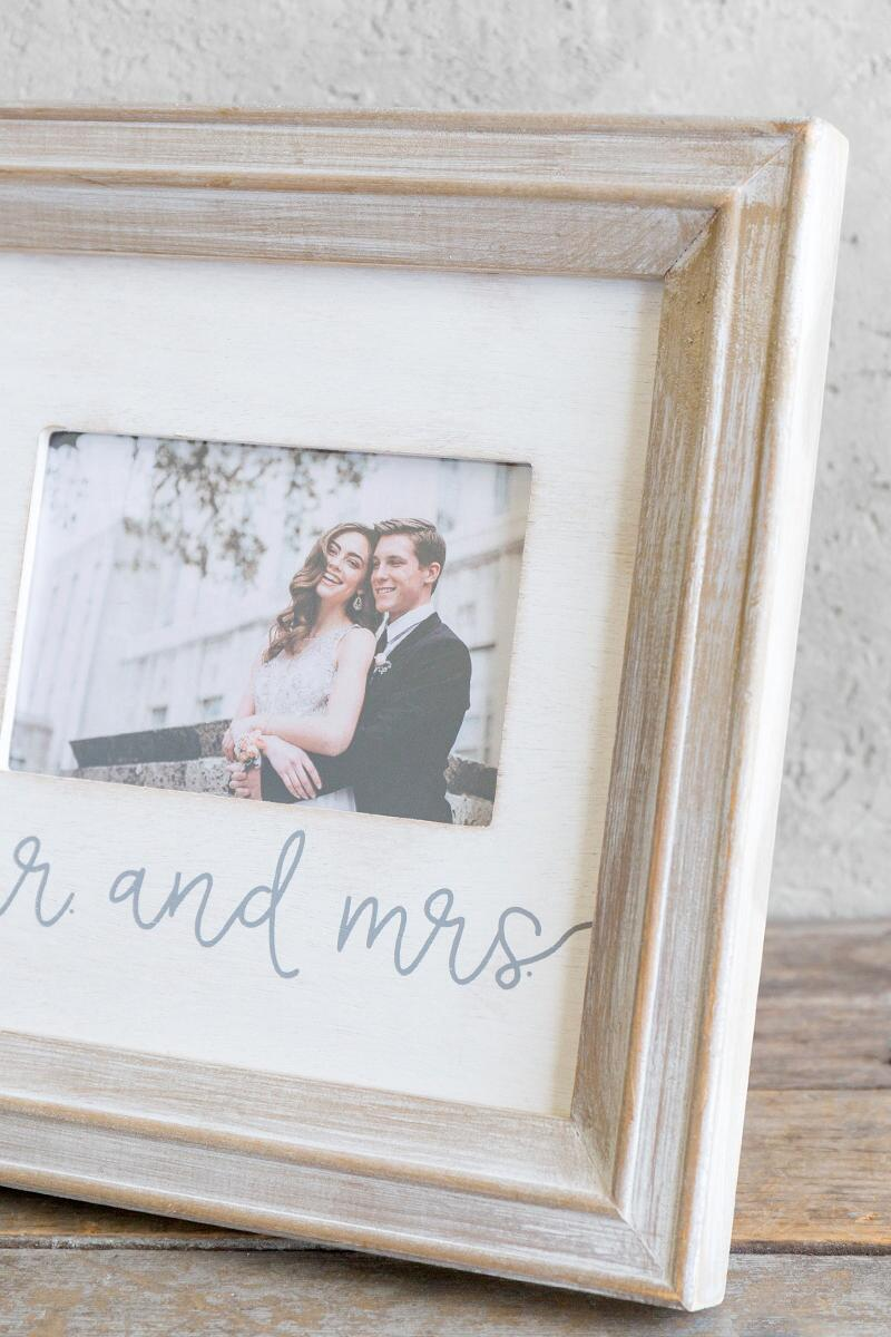 Mr. & Mrs. Small Wood Picture Frame-  gift-clalternate