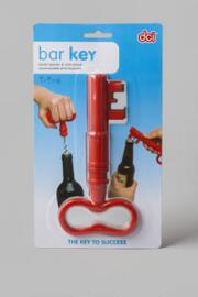 Bar Key Bottle Opener & Cork Screw