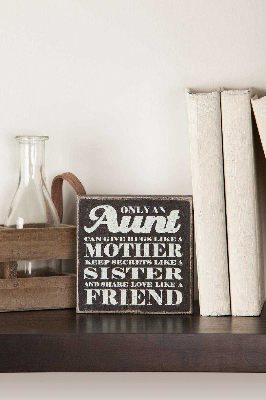 Only An Aunt Mini Plaque