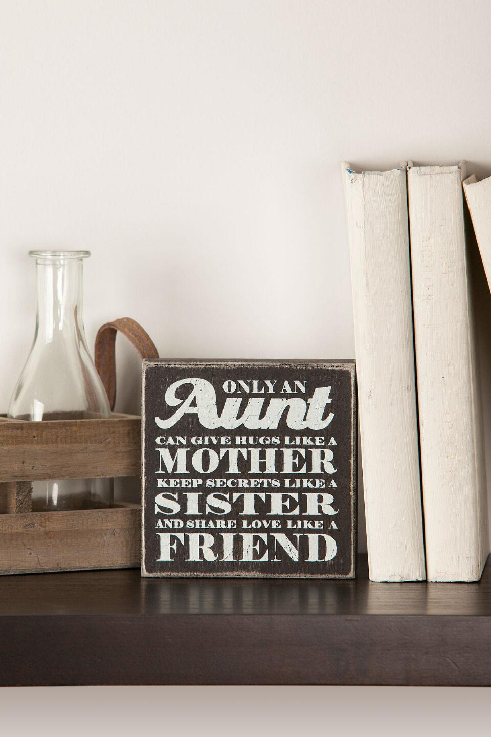 Only An Aunt Mini Plaque-  gift-cl