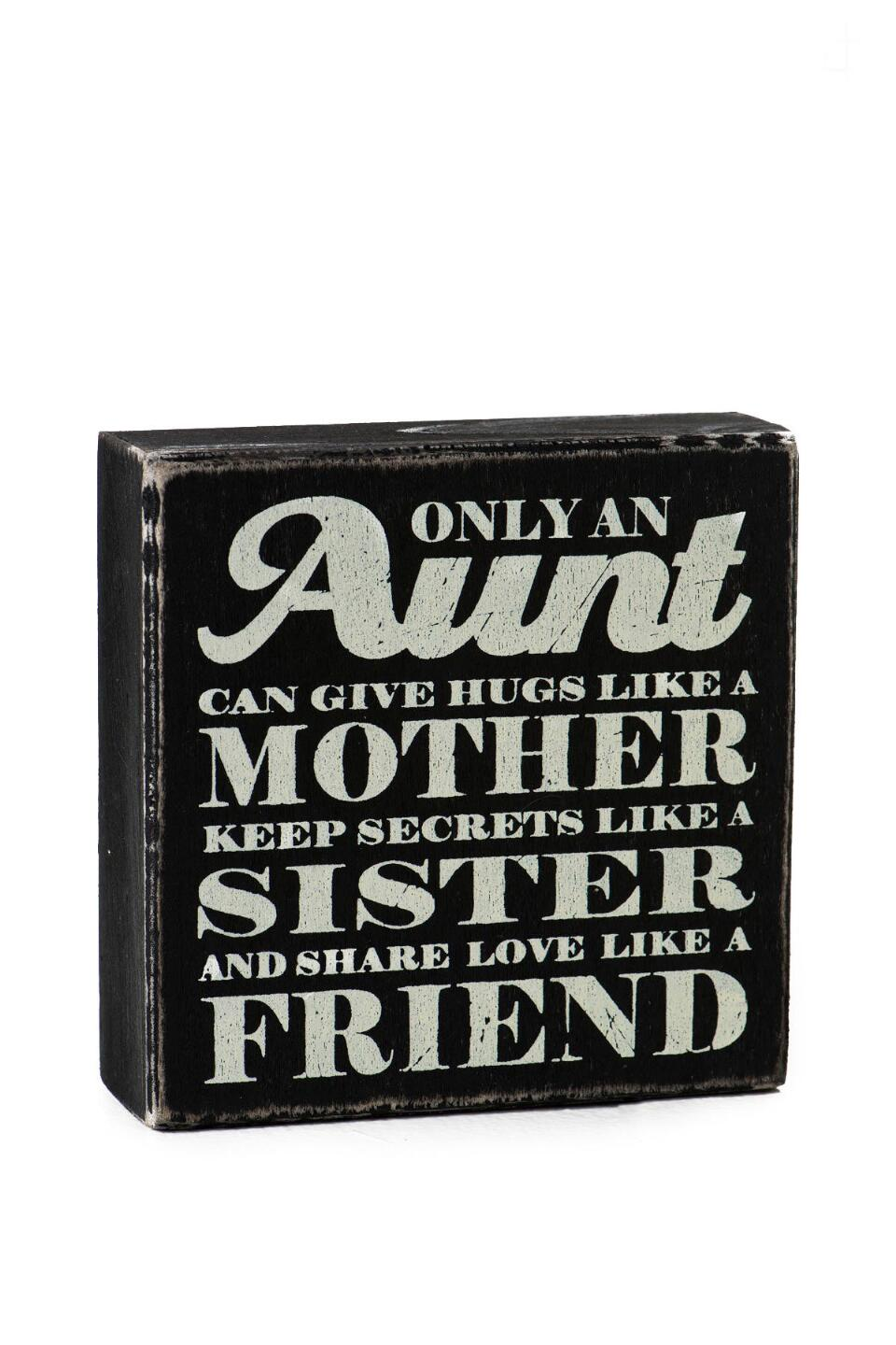 Only An Aunt Mini Plaque-  gift-clalternate