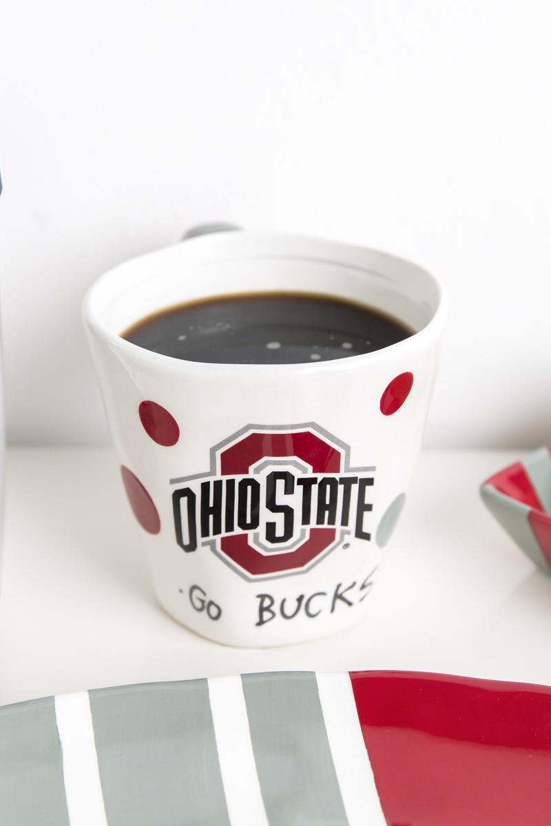 Ohio State University Scalloped Mug