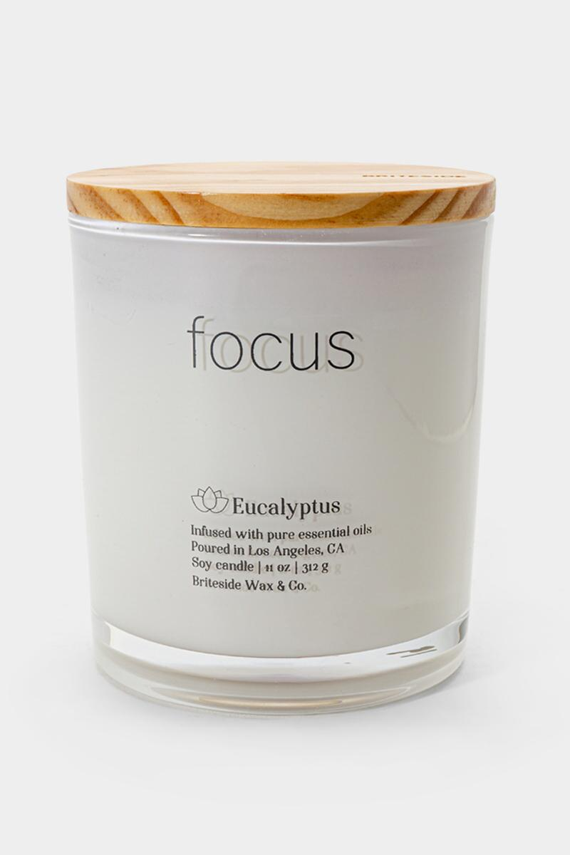 Briteside Focus Eucalyptus Candle- White