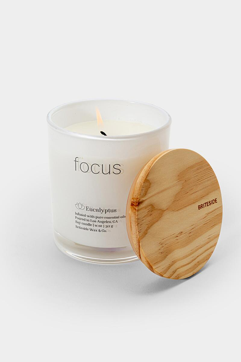 Briteside Focus Eucalyptus Candle- White 2