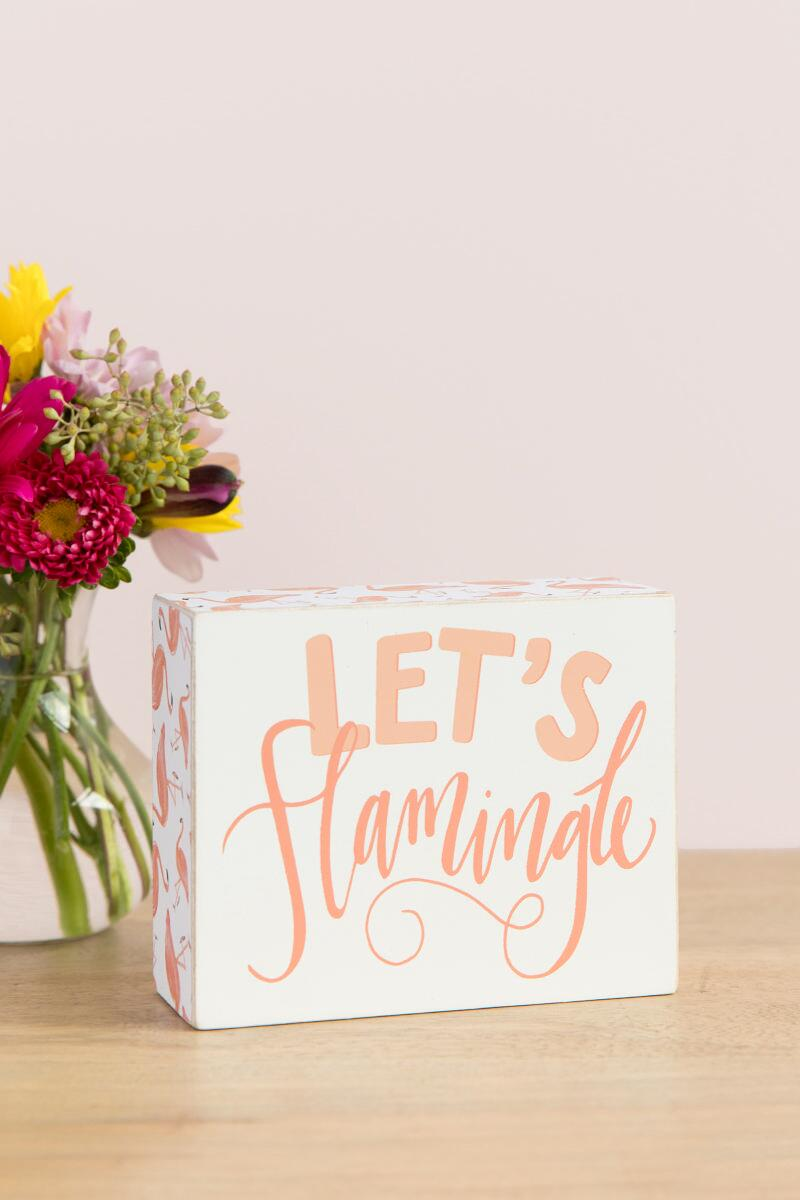 Let's Flamingle Box Sign-  gift-cllifestyle