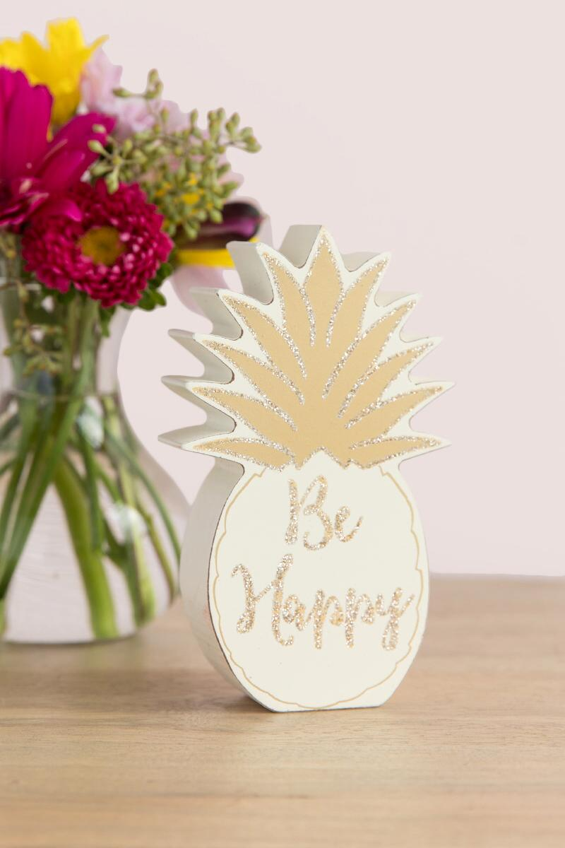 Be Happy Pineapple Desk Sitter-  gift-cllifestyle