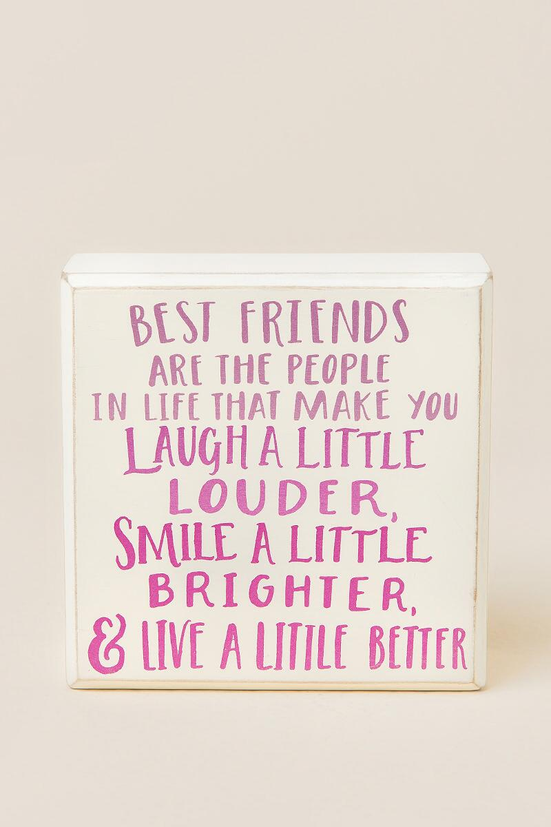 Best Friends Ombre Box Sign