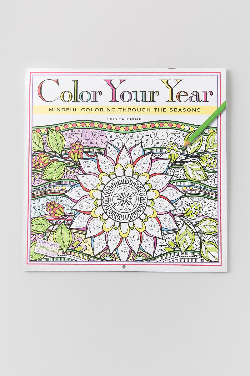 2016 Color Your Year Calendar