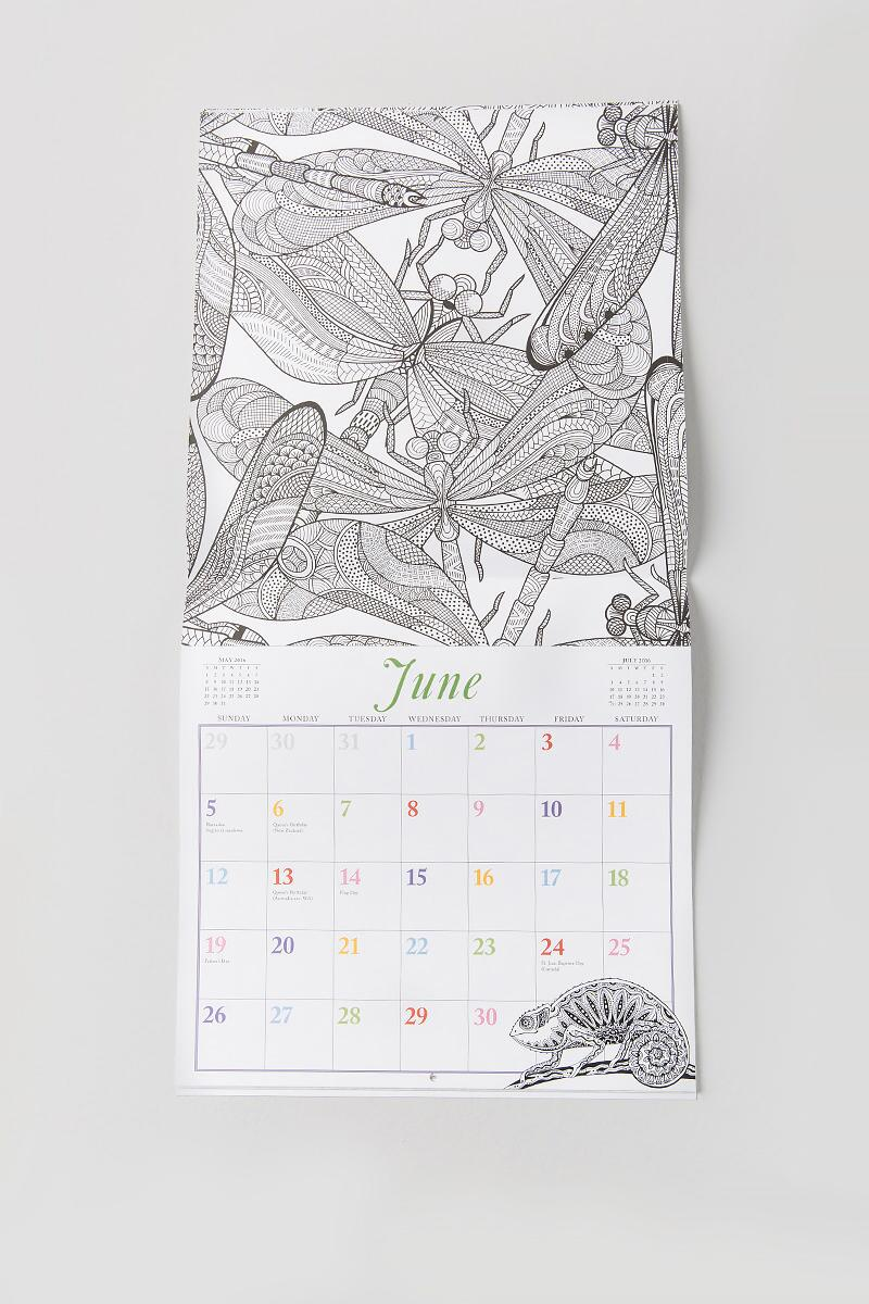 2016 Color Your Year Calendar-  gift-clalternate