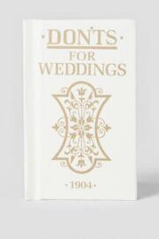 Don'ts for Weddings Book