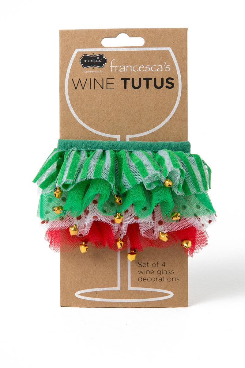 Holiday Jingle Bell Wine Tutus