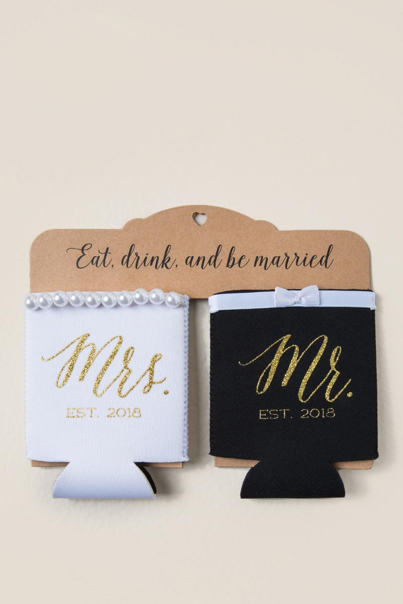 Mr. and Mrs. Coozie Set-  gift-cl