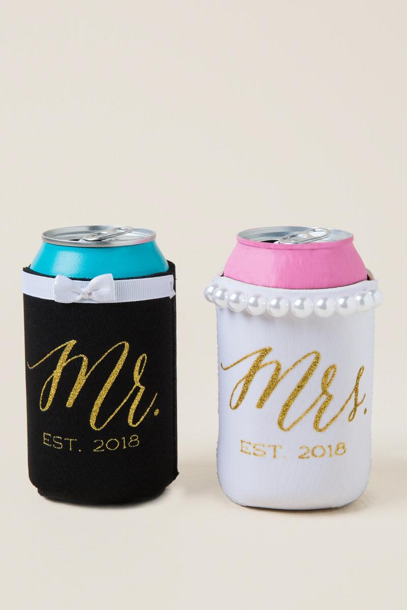 Mr. and Mrs. Coozie Set-  gift-clalternate